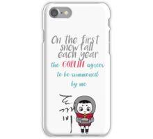Goblin - First snowfall iPhone Case/Skin