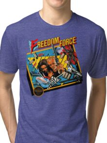 Freedom Force - NES Box Art Tri-blend T-Shirt