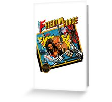Freedom Force - NES Box Art Greeting Card