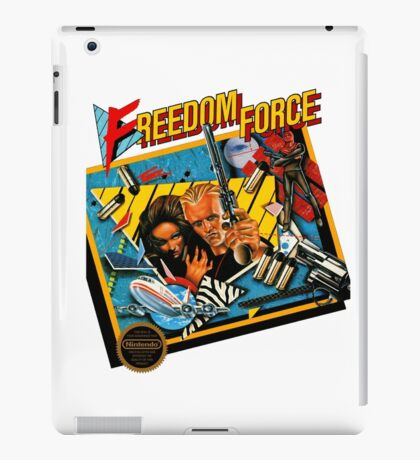 Freedom Force - NES Box Art iPad Case/Skin