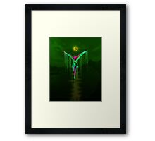 Awesome Melting Parrot Framed Print