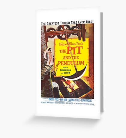 Vintage poster - The Pit and the Pendulum Greeting Card