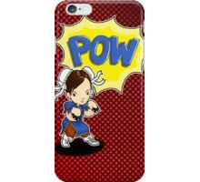 POW! Chun li punch! iPhone Case/Skin