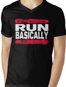 Basically, RUN! Mens V-Neck T-Shirt