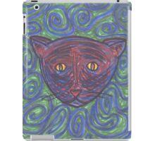 Psychedelic Black Cat iPad Case/Skin