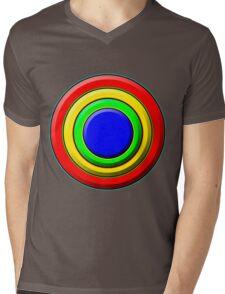 .Pattern A-8. .Full Size - Centered - White. Mens V-Neck T-Shirt