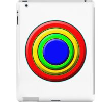 .Pattern A-8. .Full Size - Centered - White. iPad Case/Skin