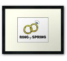 Ring by Spring Framed Print