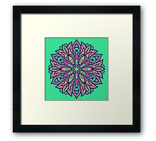 Colorful bright Complicated Mandala. Tribal style. Framed Print