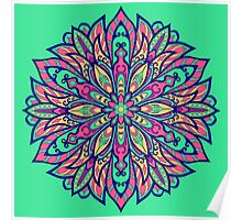 Colorful bright Complicated Mandala. Tribal style. Poster