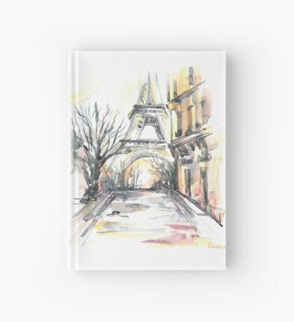 Paris street. Eiffel tower. Hardcover Journal