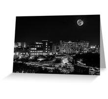 Beautiful Black & White City Greeting Card