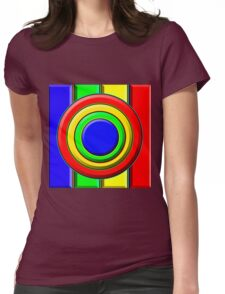 .Pattern A-5. .Expanded Scale Centered. Womens Fitted T-Shirt