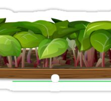 Glitch furniture coffeetable rhubarb coffee table Sticker