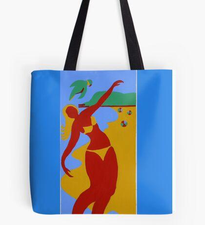 Gold Coast Red Bikini Girl Tote Bag