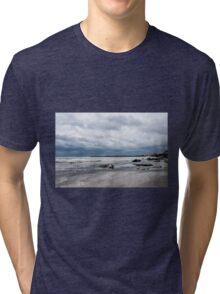 Winter Seascape 2 - Lyme Regis Tri-blend T-Shirt