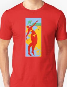 Gold Coast Red Bikini Girl Unisex T-Shirt