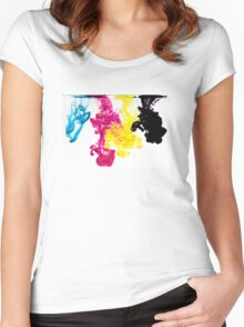 design cool encre ink Women's Fitted Scoop T-Shirt