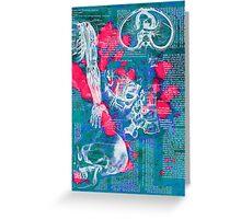 Blue Anatomy Greeting Card
