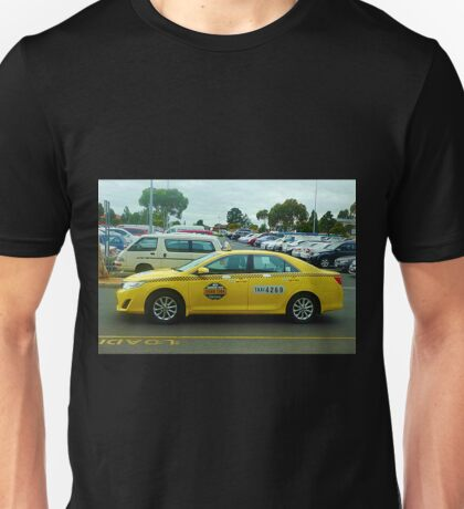 Yellow Taxi Cab at The Pacific Plaza - Werribee, Vic. Australia Unisex T-Shirt