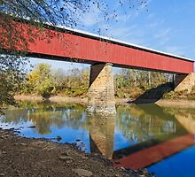Long Red Covered Bridge by Kenneth Keifer
