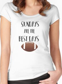 Football- Sundays Are The Best Days Women's Fitted Scoop T-Shirt