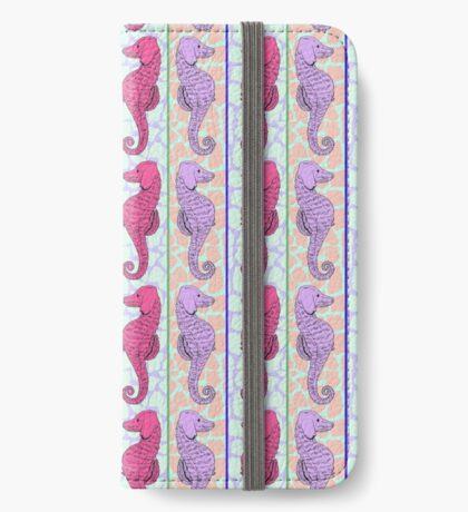 Madison SeaHorse - Pink/Purple  iPhone Wallet/Case/Skin