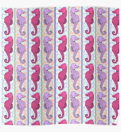 Madison SeaHorse - Pink/Purple  Poster