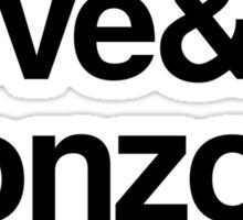 Peace & Love & Gonzo & Anarchy Sticker