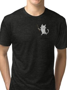 Cats - Expecto PUURtronum - The magical protective cat Tri-blend T-Shirt