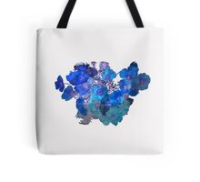 Floral Print - Blue Tote Bag