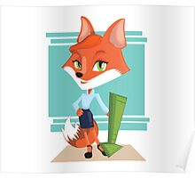 Foxy Business Poster