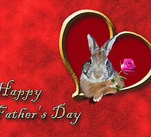 Father's Day Bunny by jkartlife