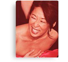 Sandra Oh - Laugh Canvas Print