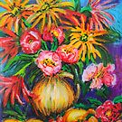 Flowers still life by marlene veronique holdsworth