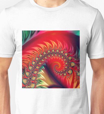 Flammendes Fraktal Unisex T-Shirt