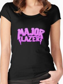 Major Lazer Pink Women's Fitted Scoop T-Shirt