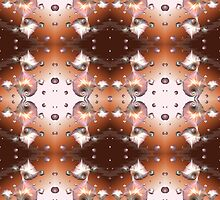 a pattern of seashell drops by elee