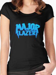 Major Lazer Blue Women's Fitted Scoop T-Shirt
