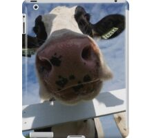 Up Close Of A Cow iPad Case/Skin