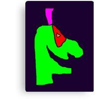 Weird green guy Canvas Print