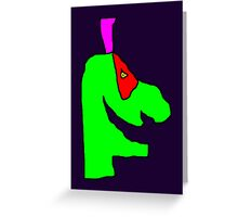 Weird green guy Greeting Card