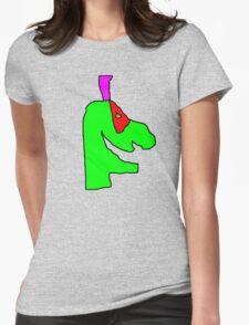 Weird green guy Womens Fitted T-Shirt