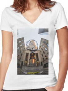 Atas Women's Fitted V-Neck T-Shirt