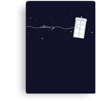 Allons-y to the TARDIS Canvas Print