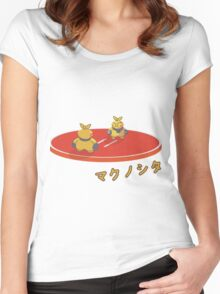 Makuhita sumo - Pokèmon Women's Fitted Scoop T-Shirt