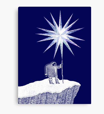 Old Man Winter Hermit and North Star Canvas Print