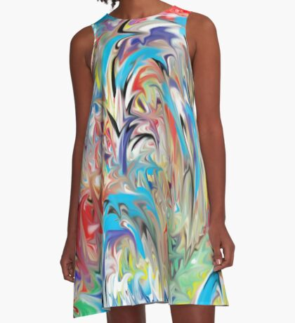 Fountain of Color A-Line Dress