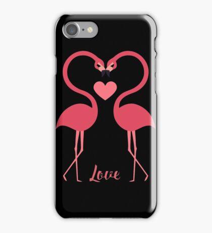 Love birds swan heart valentines iPhone Case/Skin