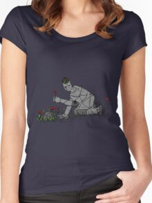 Forest Robot  Women's Fitted Scoop T-Shirt